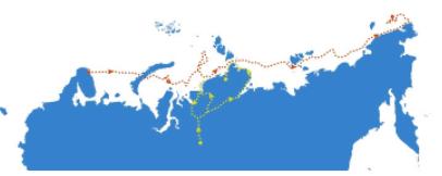 Эти два маршрута разделяют немногим более 190 лет, но связывает их одна фамилия. Какая?