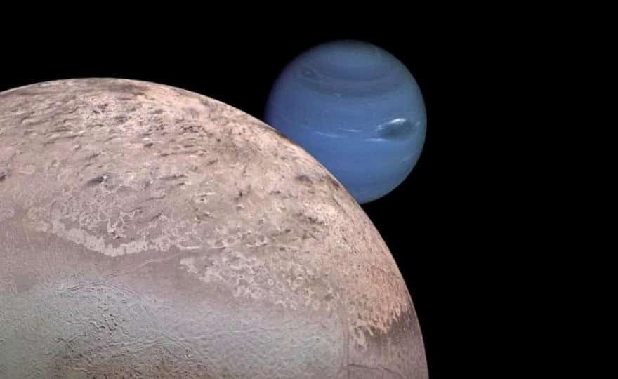 Как называется одно из темных пятен на поверхности Тритона